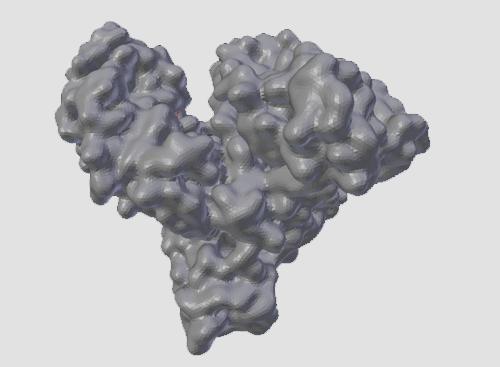 Serum Albumin 3D model view