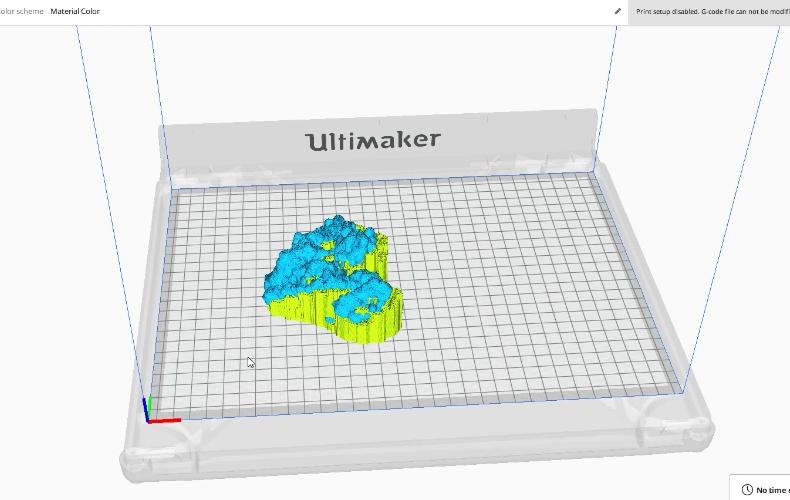 Serum Albumin model inside Ultimaker S3 interface