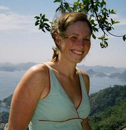 Photo of Anna Johnson:  One of the winners for the 2006 ISMB Poster Prize