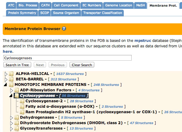 Browse by TM Protein Annotation