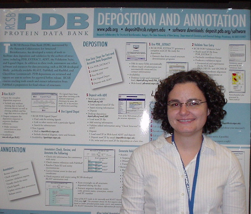 Annotator Kyle Burkhardt at the ACA poster session