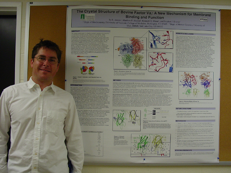 RCSB Poster Prize winner from ACA Ty Adams