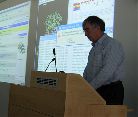 Randy Read at the inaugural wwPDB X-ray VTF meeting at the EMBL-EBI in 2008.
