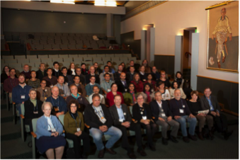 Members of the PDB, past and present, in attendance at PDB40